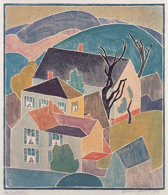 Blanche Lazzell The Town Home 1928