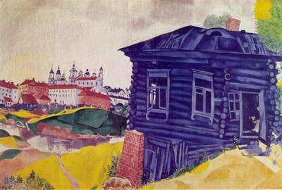 chagall the blue house