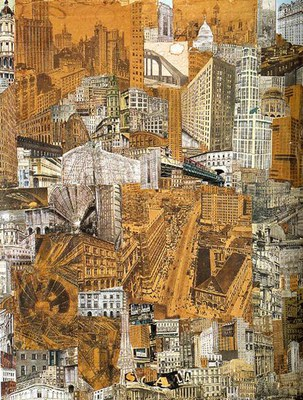 PAUL CITROEN,Métropolis,1923,collage de photos, d'imprimés, de cartes postales, 0,76X0,57m