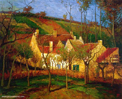 pissarro toits rouges l