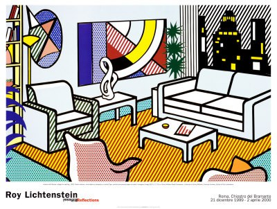 roy lichtenstein interior with skyline