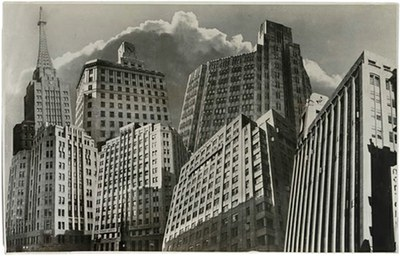 Thurman Rotan Photomontage  art deco building The sun bureau 1939